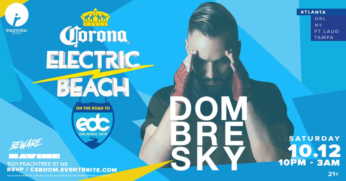 Corona Electric Beach: Road To EDC Orlando ft. Dombresky – 10.12.19