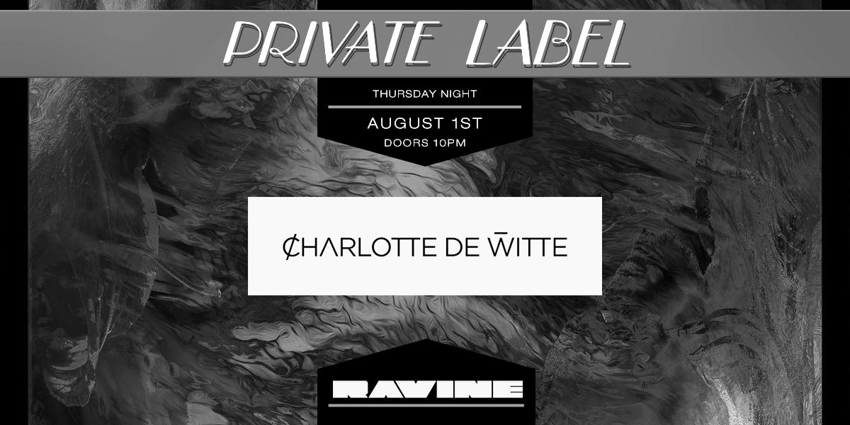 Charlotte de Witte 08.01.19